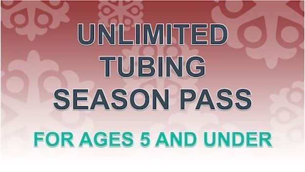 Picture of Unlimited Tubing Pass for Ages 5 and Under