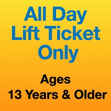 Picture of All Day Lift Ticket Only (13Yrs+)