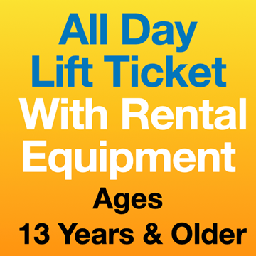 Picture of All Day Lift Ticket  & Eqpt (13Yrs+)