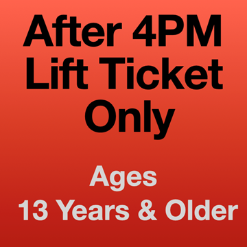 Picture of 4PM Lift Ticket Only (13 Yrs+)