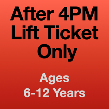Picture of 4PM Lift Ticket Only (6-12 Yrs)