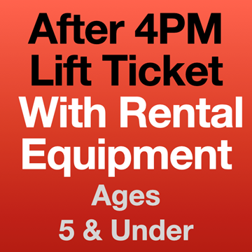 Picture of 4PM Lift Ticket & Eqpt (5Yrs-)